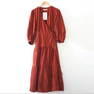 CHRISTY DAWN Noah Dress in Spiced Crinkle Stripe M